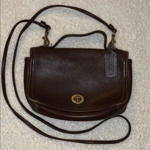 Coach vintage Casino crossbody bag - Dark Brown
